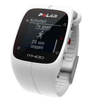 Polar M400 sports watch with GPS white