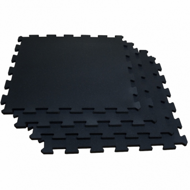 Body-Solid Interlocking flooring 100 x 100 cm solid black