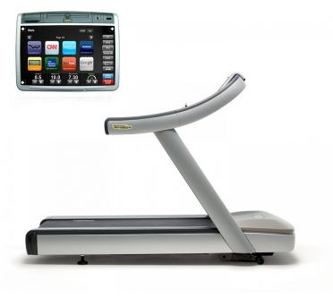 TechnoGym treadmill Run Now Excite+ 700 Visioweb silver used