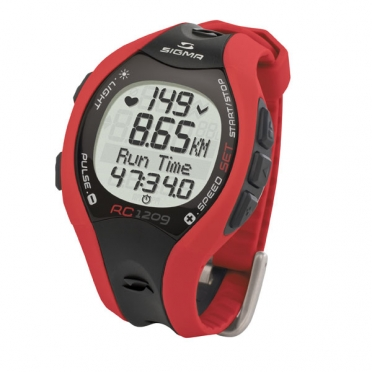 Sigma RC 1209 heart rate monitor red