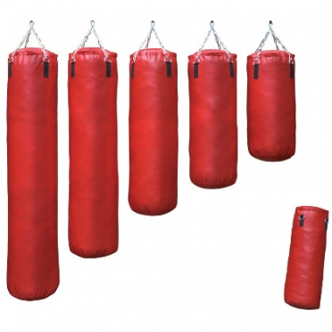 Sportief boxing bag red classic 70-180 cm