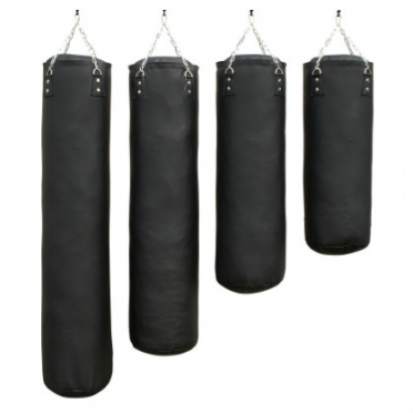 Sportief boxing bag black luxury 100 - 180 cm
