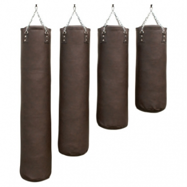 Sportief boxing bag brown pro luxury 100 - 180 cm