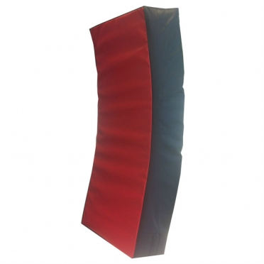 Sportief curved kicking/punching pad 75x35x15 cm black/red