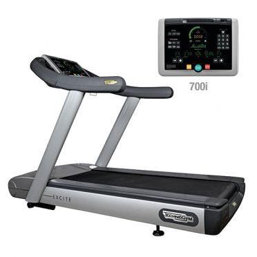 TechnoGym treadmill Run Excite 700i classic silver used