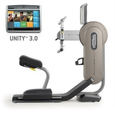 TechnoGym arm bike Excite+ Top 700 Unity 3.0 silver used