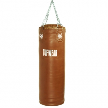 Tufwear boxing bag brown leather classic 122 cm/36 kg