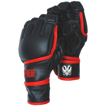 Tufwear fingerless mma/bag gloves leather