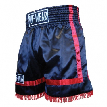 Tufwear thai short FIGHT red stripe