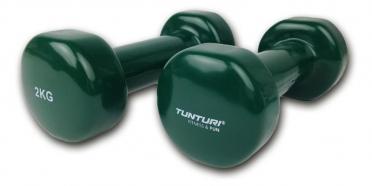 Tunturi Dumbbells Vinyl Dipped Green 2 kg 14TUSFU110