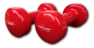 Tunturi Dumbbells Vinyl Dipped Red 3 kg 14TUSFU111