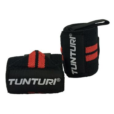 Tunturi Wrist wraps black/red