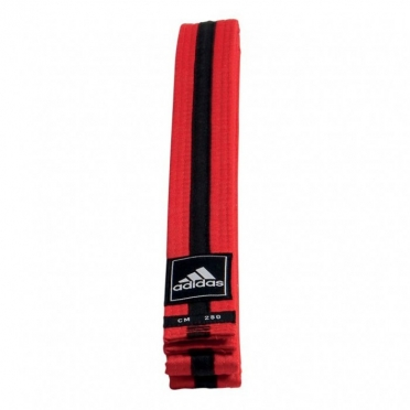 Adidas taekwondo Poomsae belt red/black