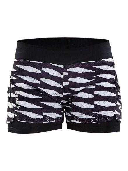 Craft Breakaway 2-in-1 running shorts black white women 1904954-9120 ca3af9167