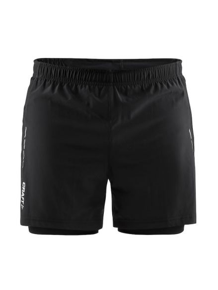 Craft Essential 2-in-1 running shorts black men  1906028-999000