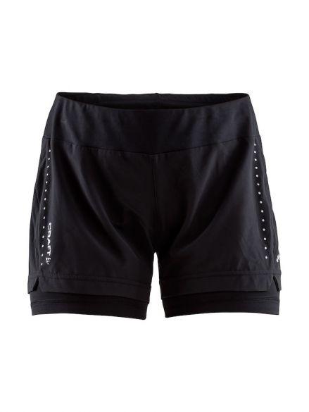 Craft Essential 2-in-1 running shorts black women  1906029-999000