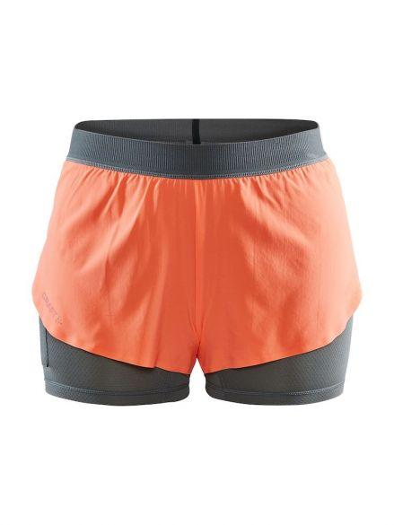 Craft Vent 2 in 1 Racing running shorts orange women  1908707-825000