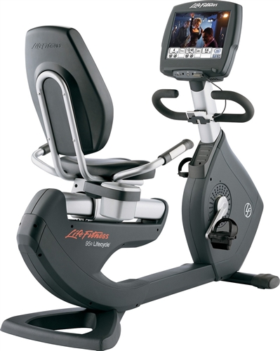 Life Fitness recumbent bike 95R Engage used  BBLFRB95REN