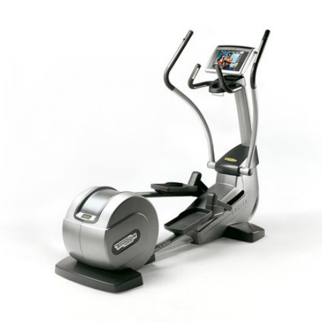 TechnoGym crosstrainer Synchro Excite 700i.e classic silver with LCD TV used  BBTGSE700IeCLCDTV