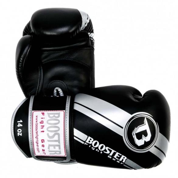 Booster Pro Range BGL V3 leather boxing gloves silver/black   BGL1-V3-sz