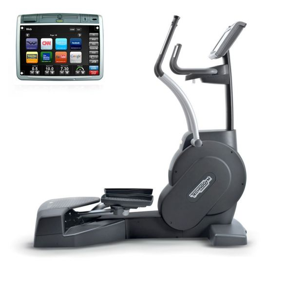 TechnoGym lateral trainer Crossover Excite+ 700 Visioweb black used  BBTGCE700VLCDTVIZW