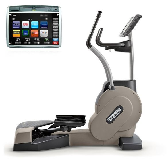 TechnoGym lateral trainer Crossover Excite+ 700 Visioweb silver used  BBTGCE700VLCDTVIZI