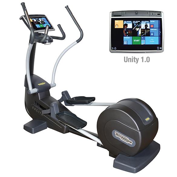 TechnoGym crosstrainer Excite+ Synchro 700 Unity silver used  BBTGESY700UZI