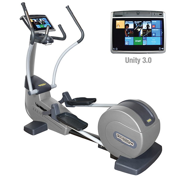 TechnoGym crosstrainer Excite+ Synchro 700 Unity 3.0 silver used  BBTGESY700U3ZI