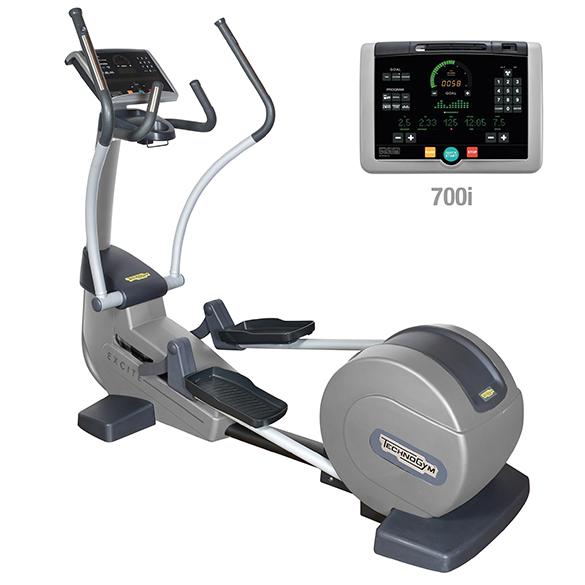 TechnoGym crosstrainer Synchro Excite+ 700i silver used  BBTGSE700IZI