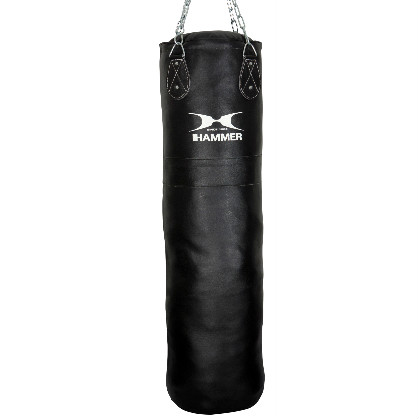 Hammer boxing bag leather black 100 - 150 cm  H92910