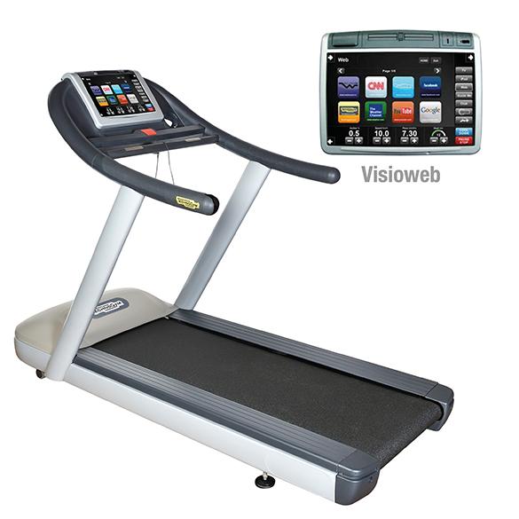 TechnoGym treadmill Jog Now Excite+ 700 Visioweb silver used  BBTGJNE700VLCDTVIZI