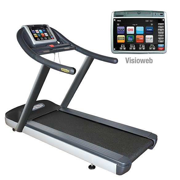 TechnoGym treadmill Jog Now Excite+ 700 Visioweb black used  BBTGJNE700VLCDTVIZW