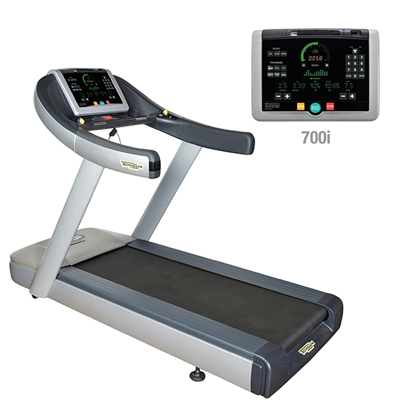 TechnoGym treadmill Run Now Excite+ 700i silver used  BBTGRNE700IZI