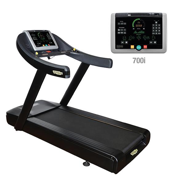 TechnoGym treadmill Run Now Excite+ 700i black used  BBTGRNE700IZW