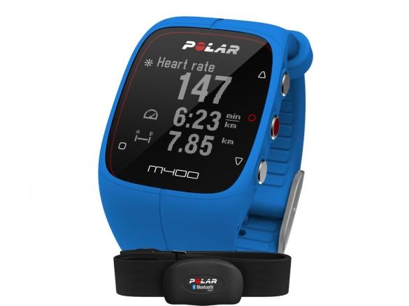 Polar M400 HRM sports watch with GPS blue  90057189