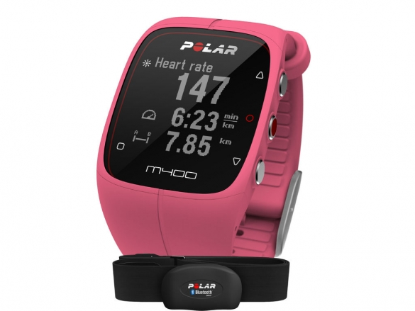 Polar M400 HRM sports watch with GPS pink  90057193