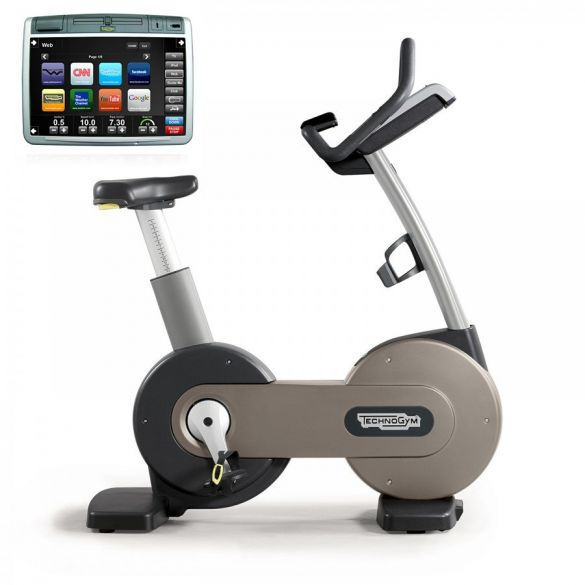 TechnoGym excercise Bike Excite+ 700 Visioweb silver used  BBTGNBE700VLCDTVIZI