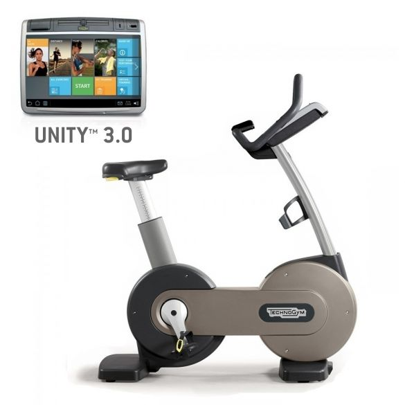 TechnoGym excercise bike Excite+ New Bike 700 Unity 3.0 silver used  BBTGENB700U3ZI