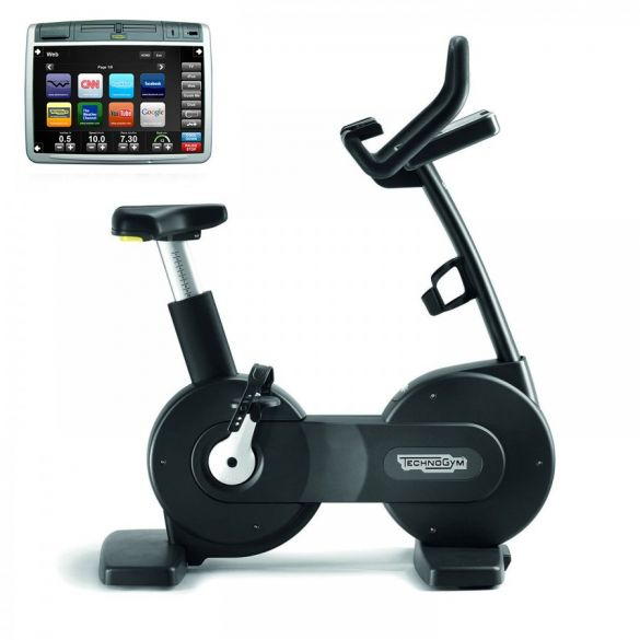 Technogym excercise Bike Excite+ 700 Visioweb black used  BBTGNBE700VLCDTVIZW