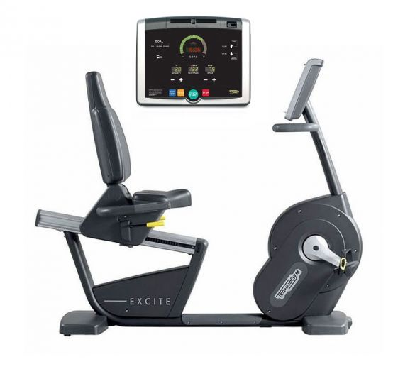 TechnoGym recumbent bike Recline Excite+ 500i black used  BBTGNRE500IZW