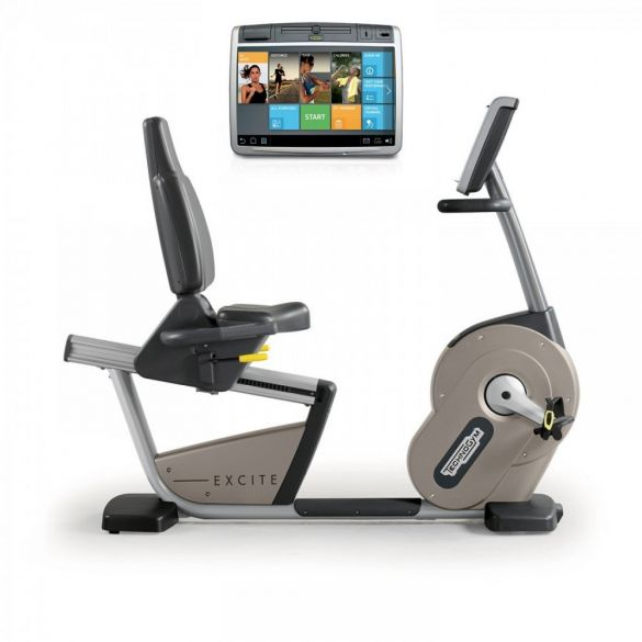 TechnoGym recumbent bike Excite+ New Recline 700 Unity silver used  BBTGENR700UZI
