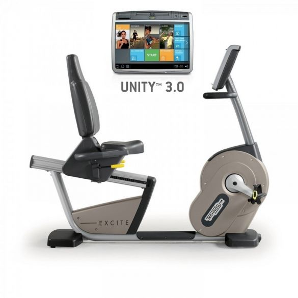 TechnoGym recumbent bike Excite+ New Recline 700 Unity 3.0 silver used  BBTGENR700U3ZI