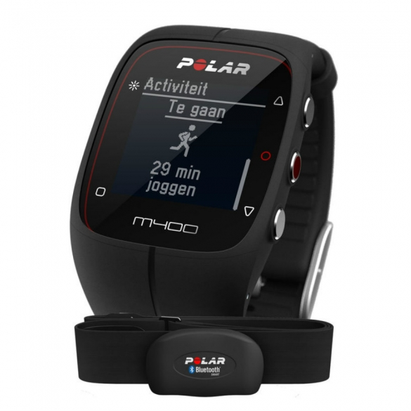 Polar M400 HRM sports watch with GPS black  POLARM400HRMBL