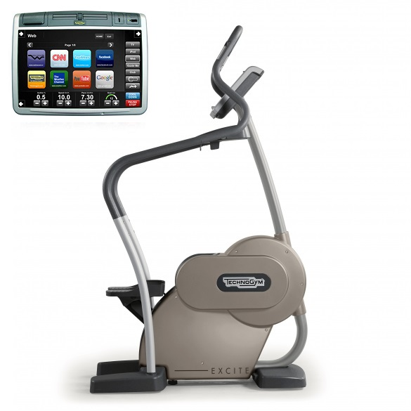 Technogym stepper Step Excite+ 700 Visioweb silver used  BBTGST700VLCDTVIZI