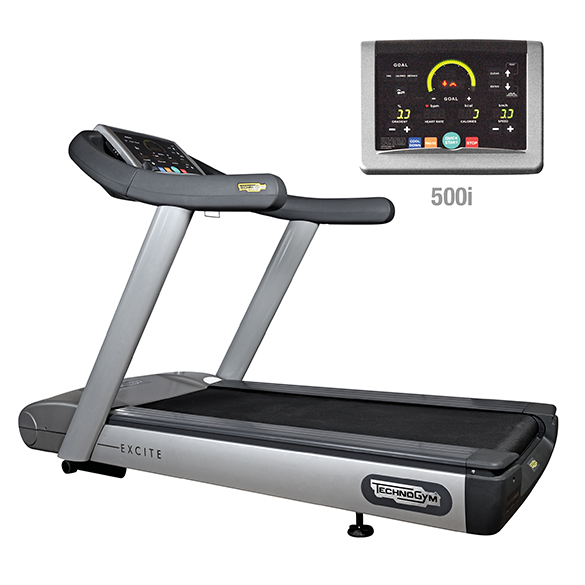 TechnoGym treadmill Run Excite 500i classic silver used  BBTGRE500IC
