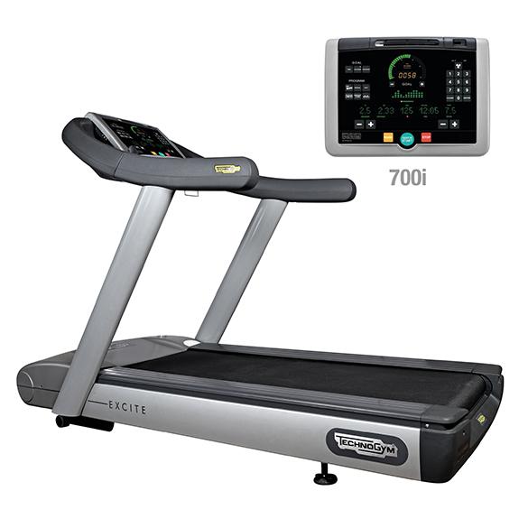 TechnoGym treadmill Run Excite 700i classic silver used  BBTGRE700IC