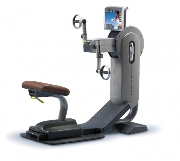 TechnoGym arm bike Top Excite 700i.e classic silver with LCD TV used  BBTGTEE700IeLCDTV