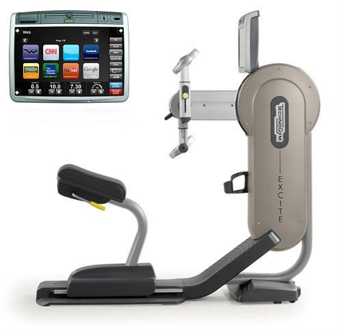 TechnoGym arm bike Top Excite+ 700 visioweb silver used  BBTGTE700VLCDTVIZi
