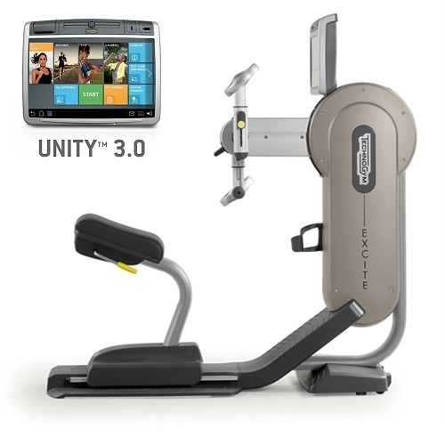 TechnoGym arm bike Excite+ Top 700 Unity 3.0 silver used  BBTGET700U3ZI