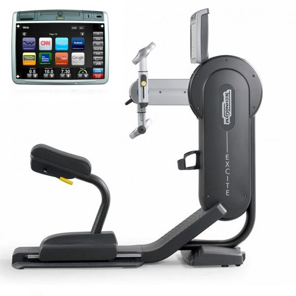 TechnoGym arm bike Top Excite+ 700 visioweb black used  BBTGTE700VLCDTVIZW